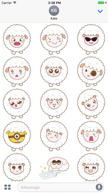 Cloudy Sheep Stickers