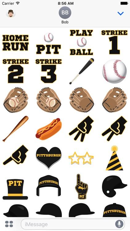 Pittsburgh Baseball Stickers & Emojis screenshot-3