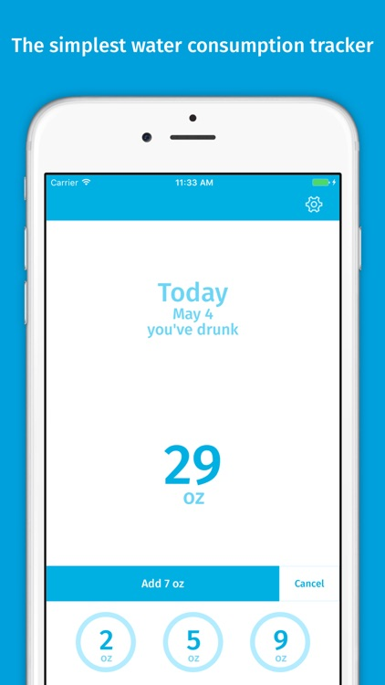 Aquanaut – daily water consumption tracker app image