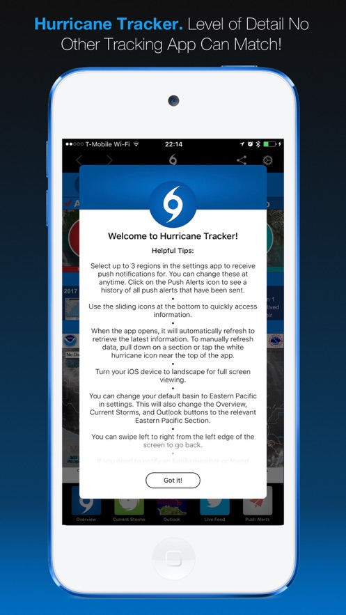 Hurricane Tracker App 截图