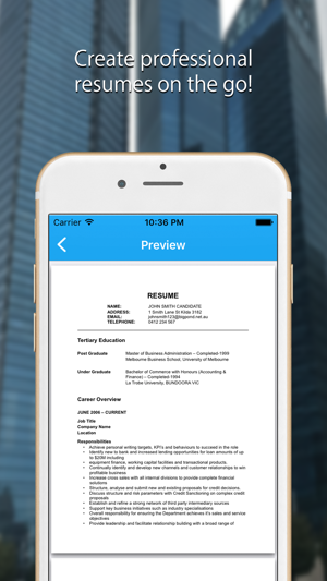 Resume Maker Pro CV Generator on the App Store