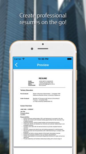 Resume Maker Pro CV Generator on the App Store