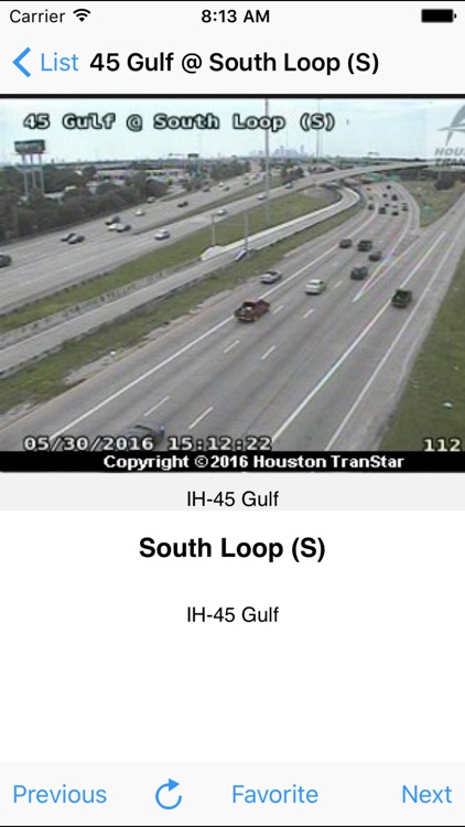 Houston Traffic Cam