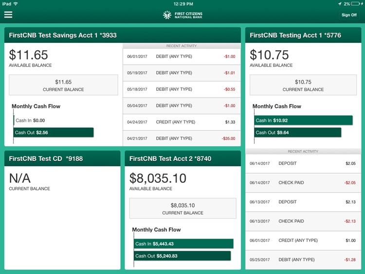 FirstCNB Business for iPad screenshot-3