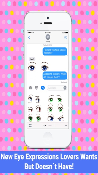Eye Expressions - Emojis for Chat screenshot one