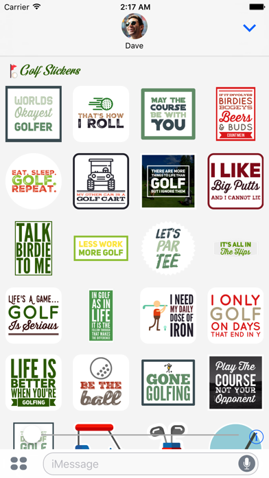 Golf Sticker for iMessage screenshot three