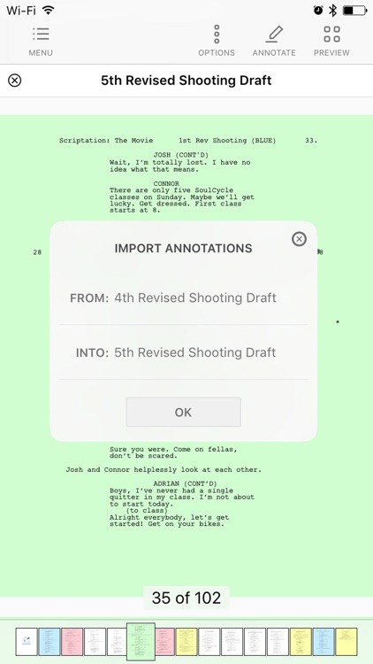 Scriptation - Annotate PDF Scripts for Film and TV