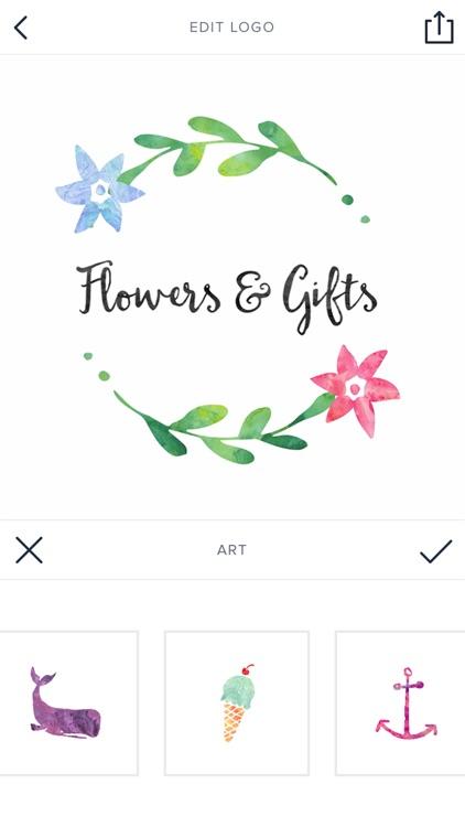 Watercolor Logo Maker - Small Business Logo Design screenshot-3