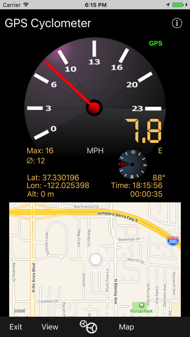 Gps Cyclometer review screenshots