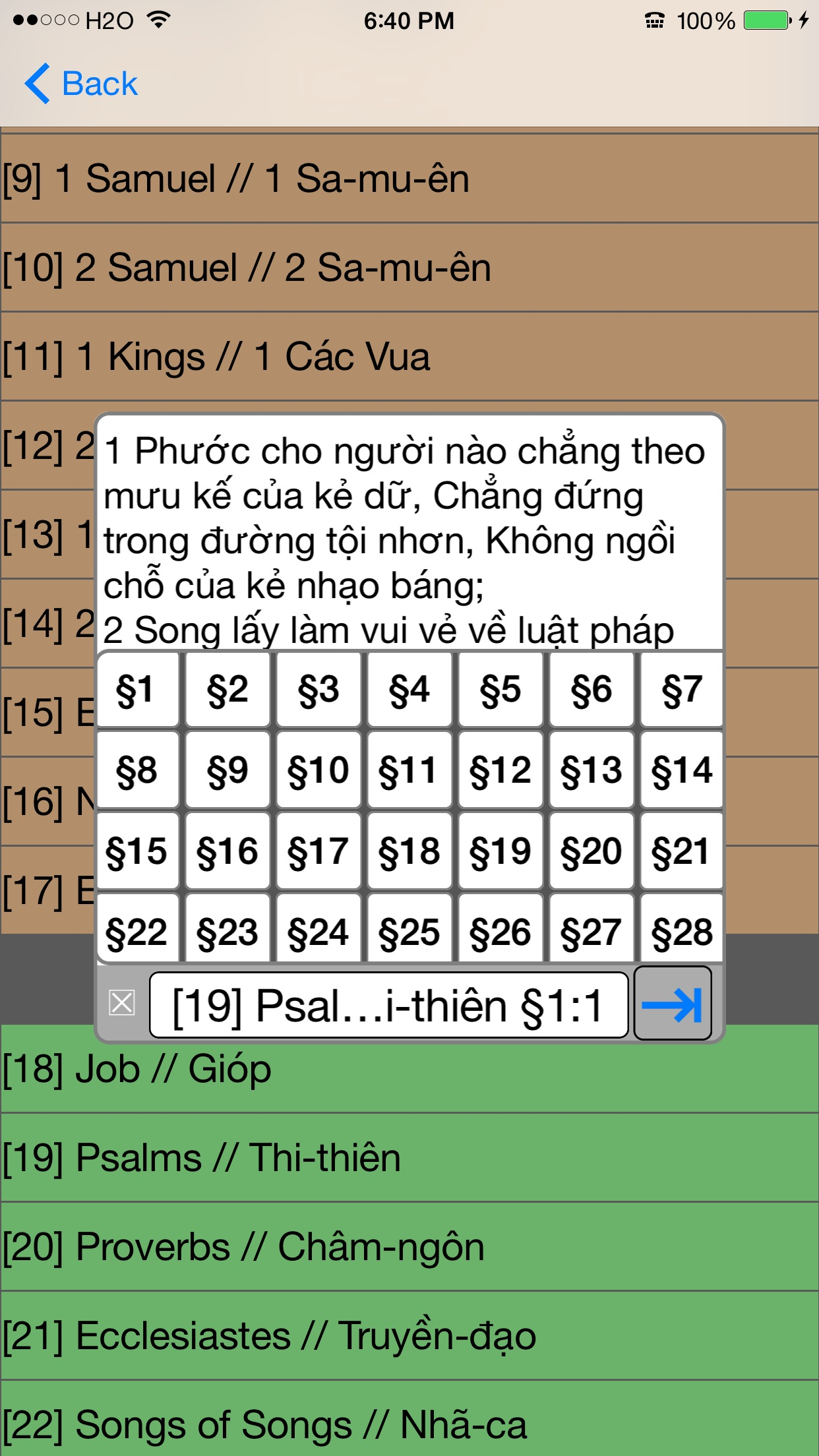 Kinh Thanh (Vietnamese Bible) Screenshot