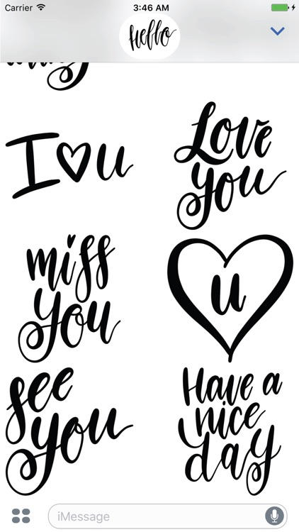 Hello Calligraphy! Stickers for iMessage screenshot-4