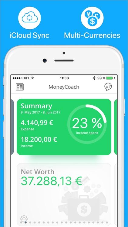 MoneyCoach - Expense Tracker, Bill Manager, Budget screenshot-0