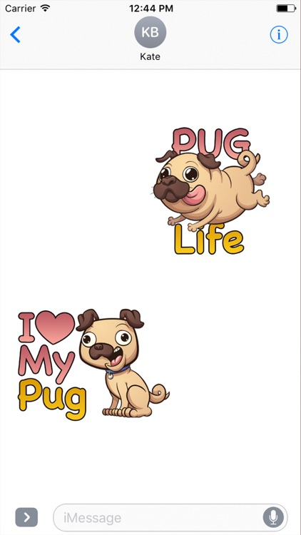 PugLife - Pug Emoji & Stickers