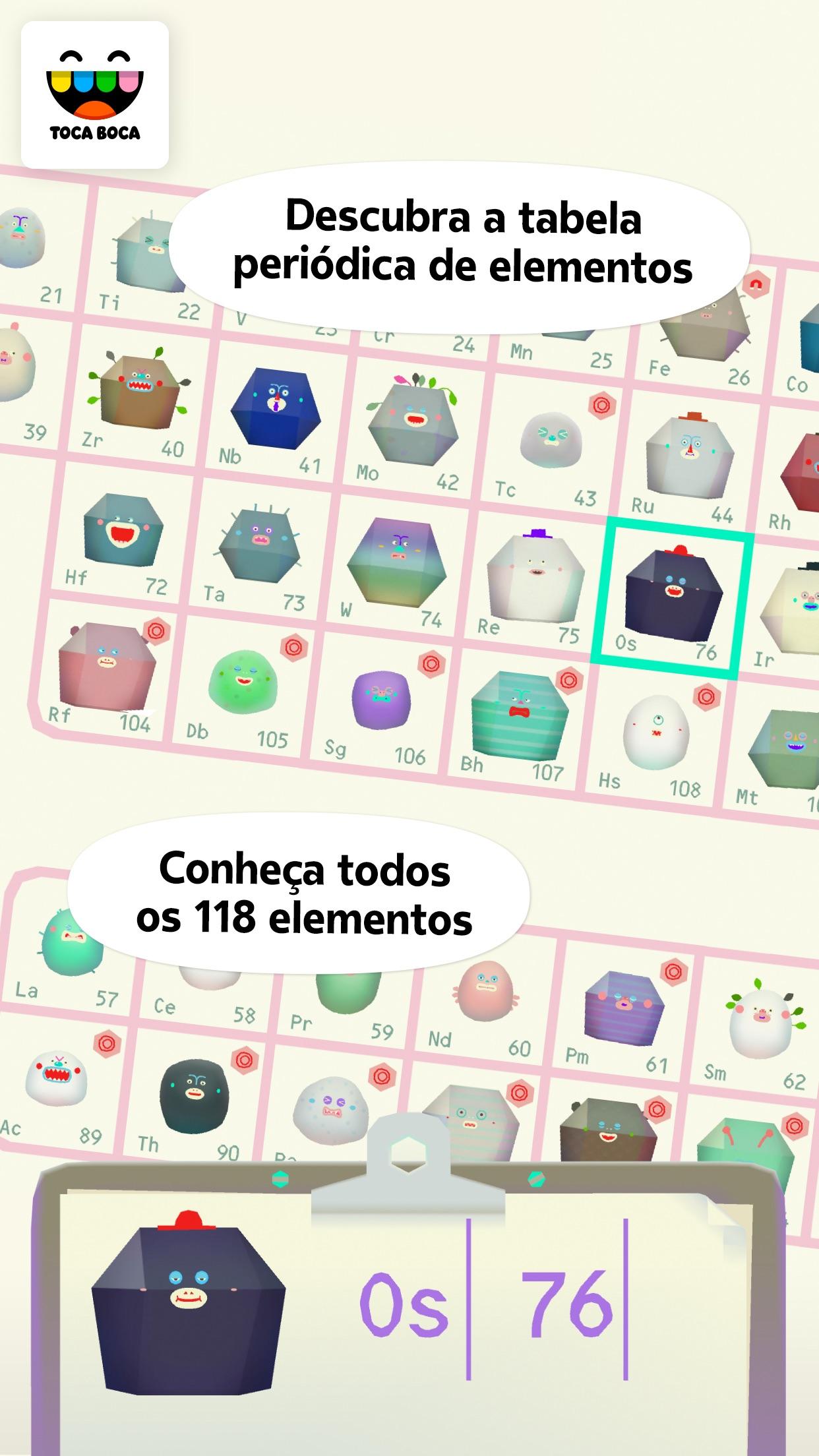 Screenshot do app Toca Lab: Elements