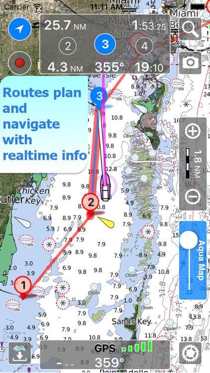 Aqua Map New Hampshire NH Lakes HD-Nautical Charts