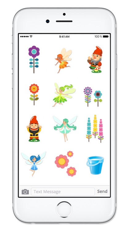 Fairy and Gnome Garden Sticker Pack screenshot-3