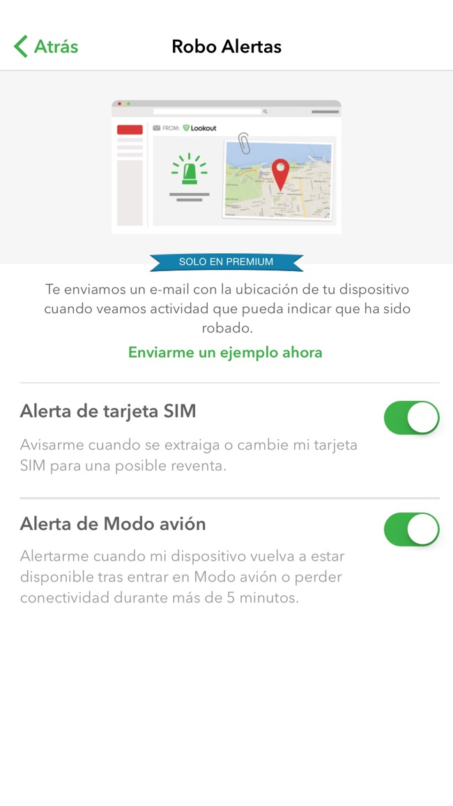 Lookout - Seguridad, backup, dispositivo perdido Screenshot
