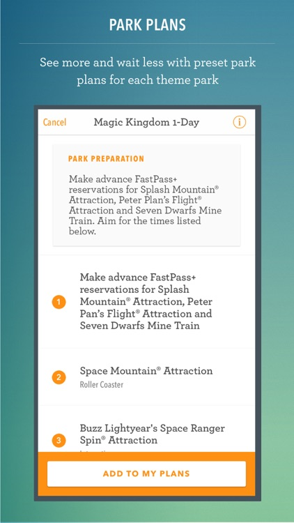Disney World Maps, Wait Times, Touring Plans Free screenshot-1