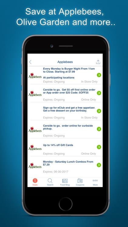 Food Coupons, Restaurants App
