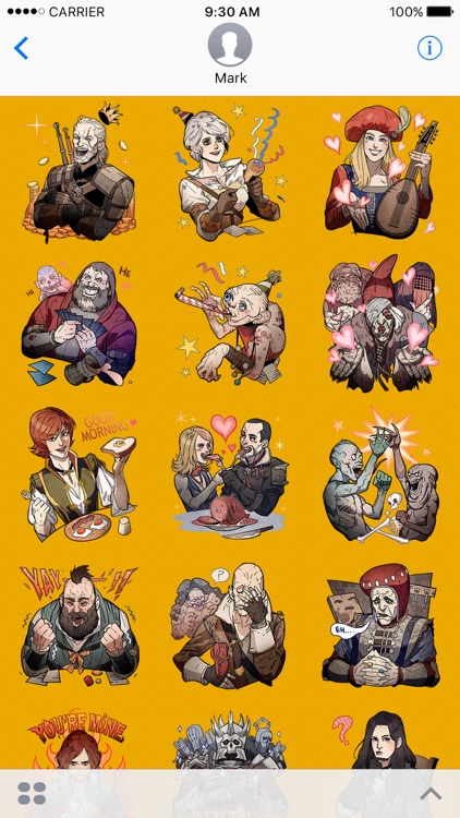 The Witcher Stickers