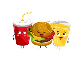 Make your daily messages and conversations tasty with these yummy Foodastic food stickers
