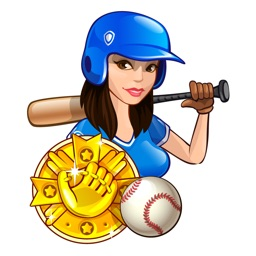 Baseball cheerleading Stickers