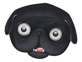 We have noticed that the sticker publishers have neglected the black pugs, and they are not a tinge less cute as the differently colored puppies