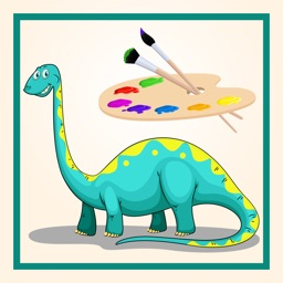 Paint & Draw Dinosaur Coloring Book
