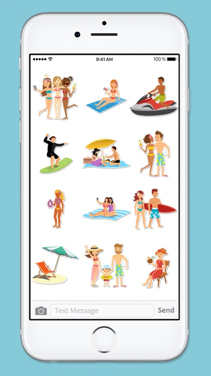 Beach Vacation Summer Fun & Friends Sticker Pack