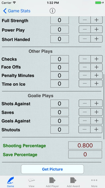 Hockey Player Logbook, Stats, Team Tracking