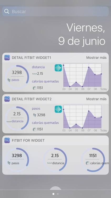 Widget For Fitbit
