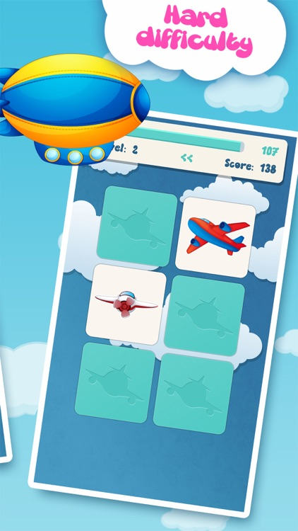 Family matching game: Planes screenshot-4