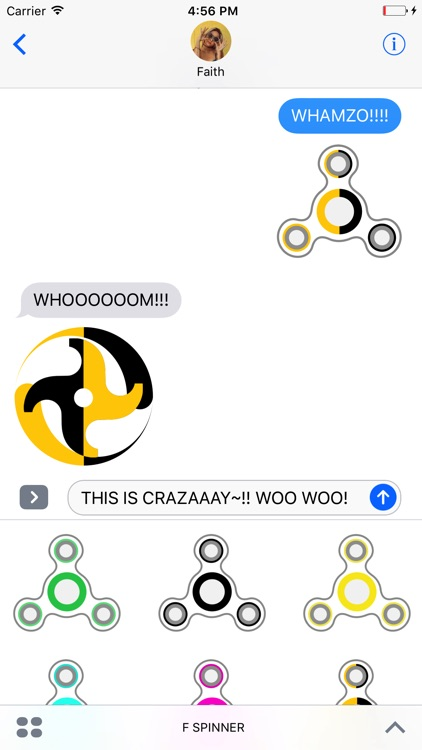 Fidget Spinner: Stickers and Emoji Keyboard
