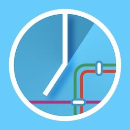 Anzeigetafel - Fahrplan für Bus, Tram und Bahn