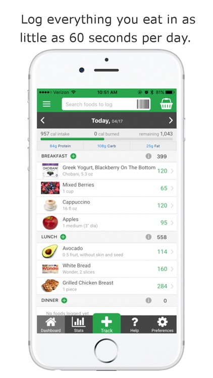 Nutritionix Track - Calorie Counter & Food Tracker
