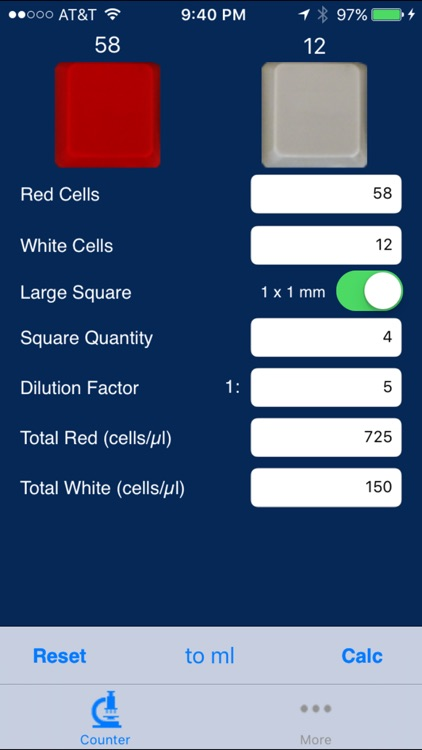 Hemocytometer Calculator