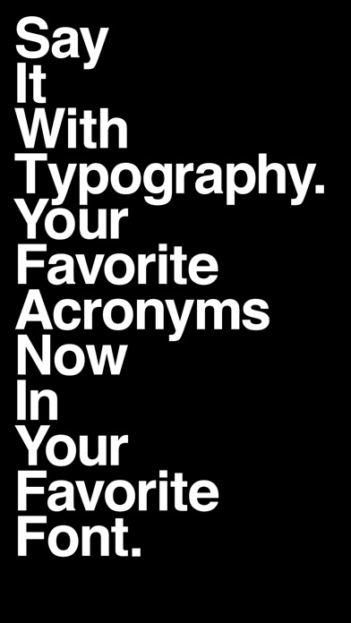 Say It With Typography