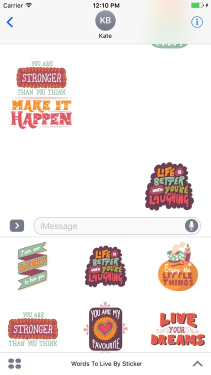 Words To Live By - Sticker Pack screenshot-3