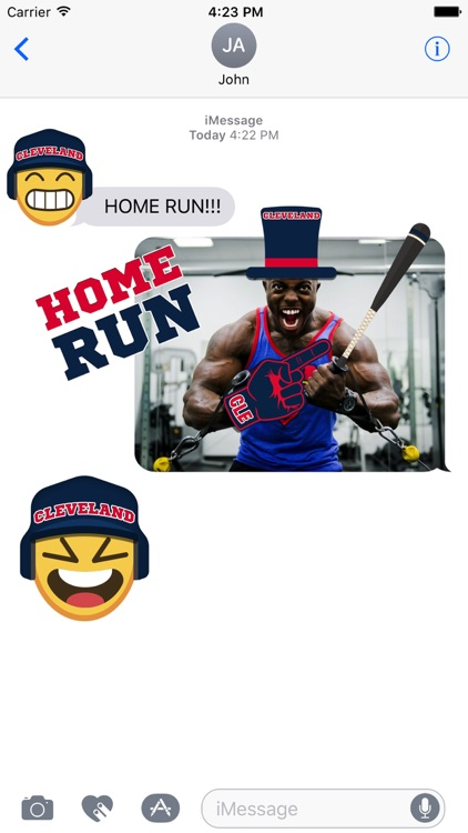 Cleveland Baseball Stickers & Emojis screenshot-1