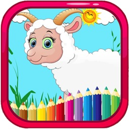 Happy Sheep Farm on the Hill Colouring Books