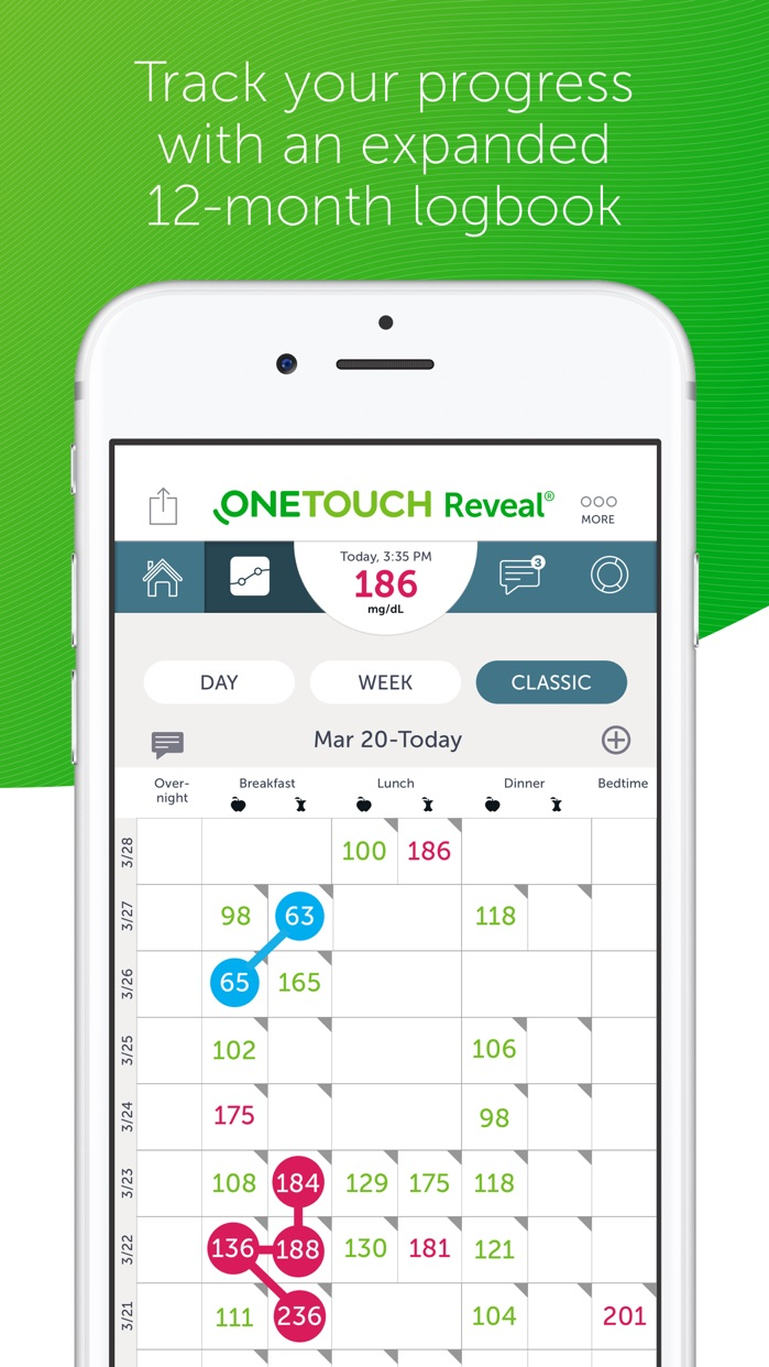 OneTouch Reveal Screenshot