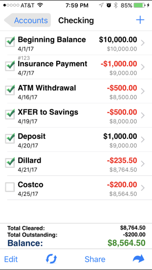 accounts 2 checkbook on the app store