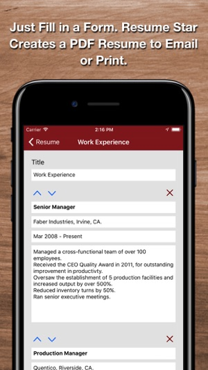Resume Star 2: Pro CV Designer on the App Store