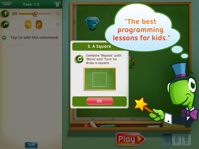 Move the Turtle. Learn to code Screenshot