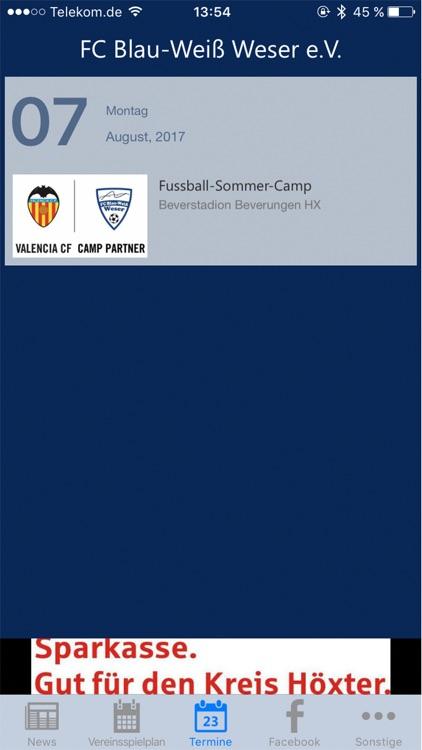 FC Blau-Weiß Weser screenshot-3