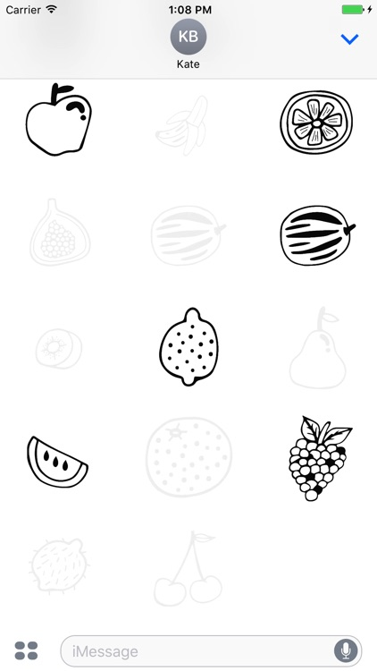 Animated Cute Fruit Stickers screenshot-4