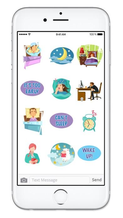 Screenshot of Gotta Sleep Sticker Pack App