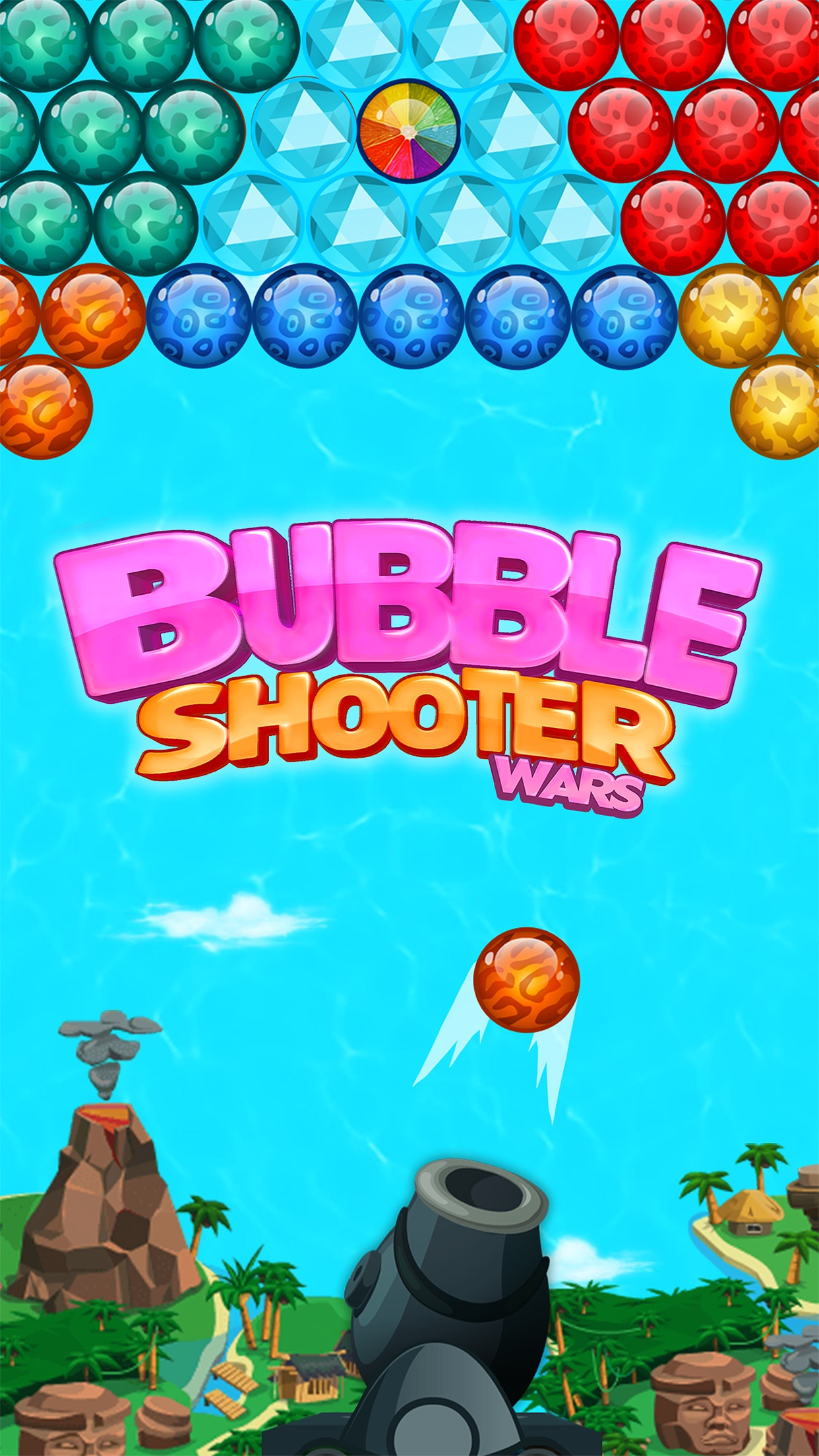 Bubble Shooter Wars Screenshot