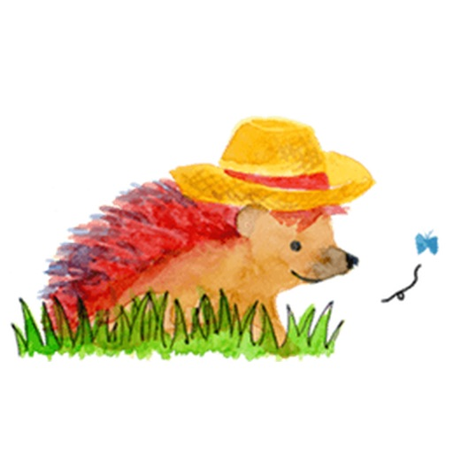 Watercolor Lovely Hedgehog Sticker