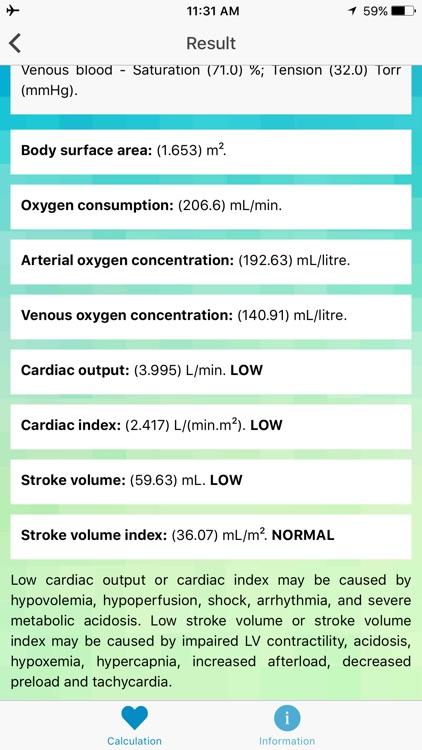 CO & SV Calculator - Cardiac Output, Stroke Volume